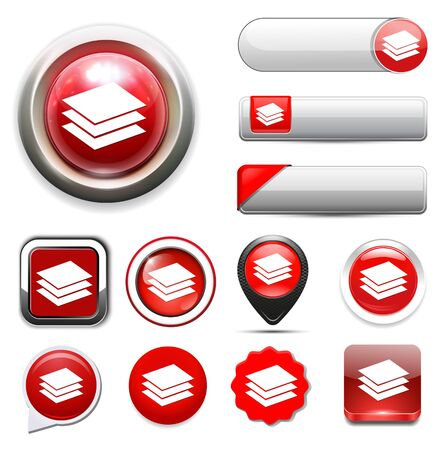 stack of files: papers Icon