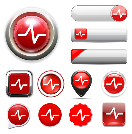 heart rate: heart rate button Illustration