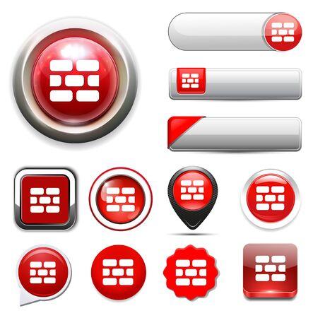 firewall: Firewall-Symbol Illustration