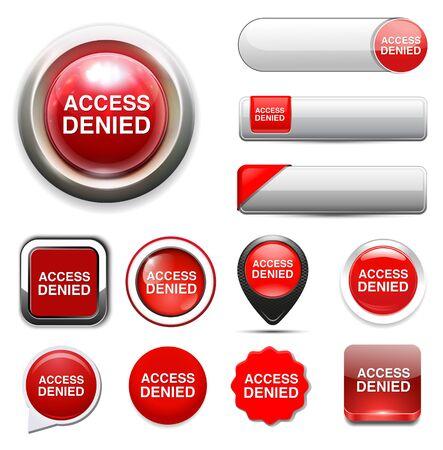 Access Denied button Ilustrace