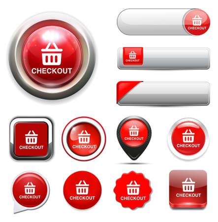 checkout button: checkout button Illustration