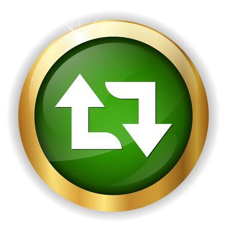 reload: arrow sign reload refresh rotation Illustration