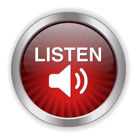 Listen button Illustration