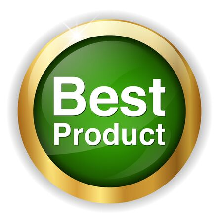 best product: Best Product button Illustration