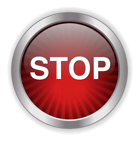boton stop: Bot�n STOP Vectores