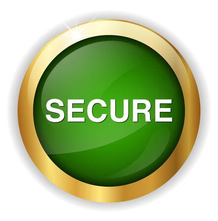 secure: secure button Illustration