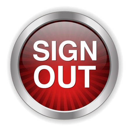 sign out: sign out button