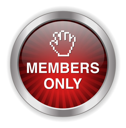 closed club: Members only button Illustration