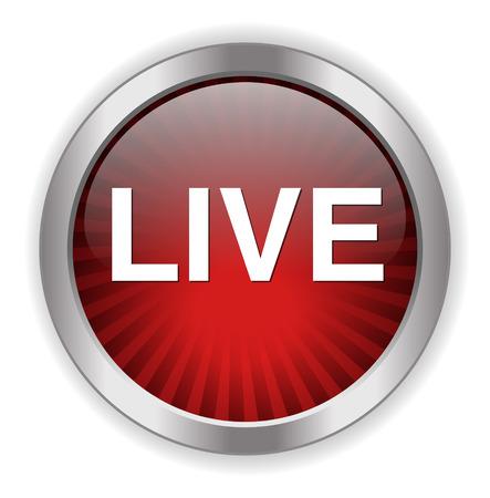 live stream sign: live icon