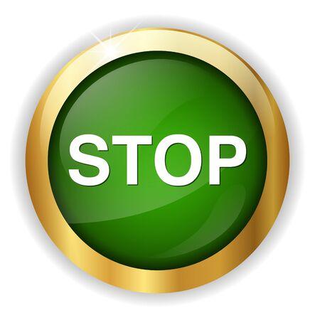 stop button: stop button Illustration