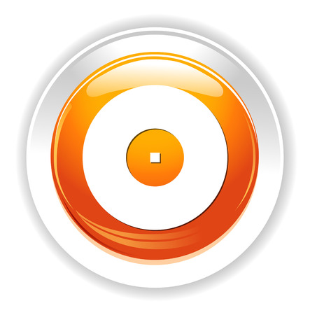 Compact disk icon. Cd or DVD symbol