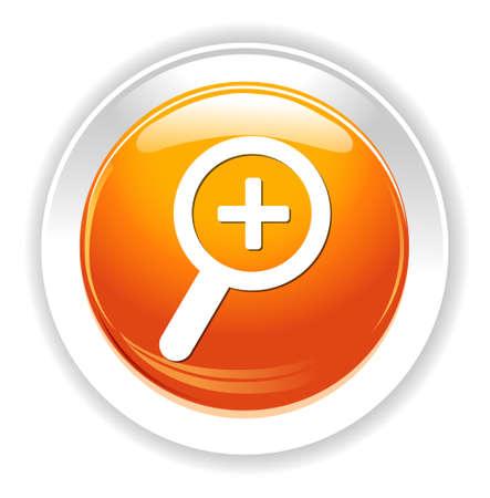 zoom in: icono de acercar Vectores