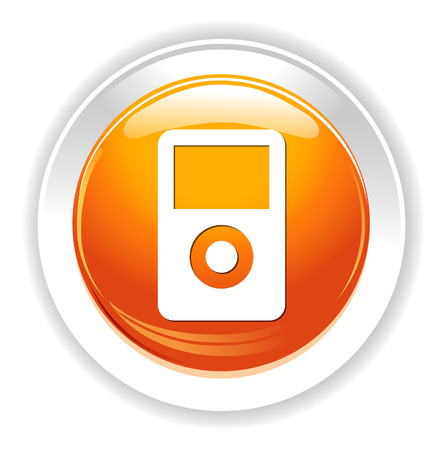 portable mp3 player: mp3 player icon Illustration