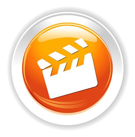 slate film: movie clapper icon