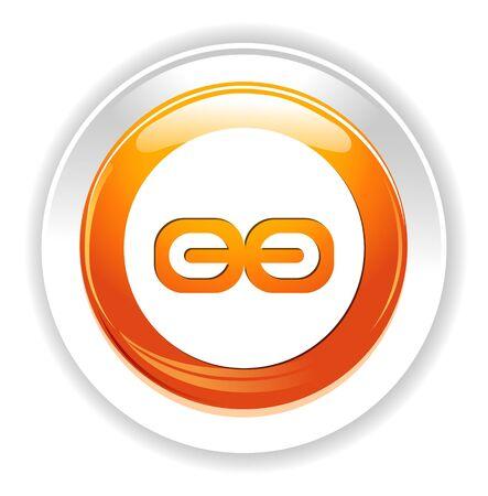jednolitego: Link Jedna ikona Ilustracja