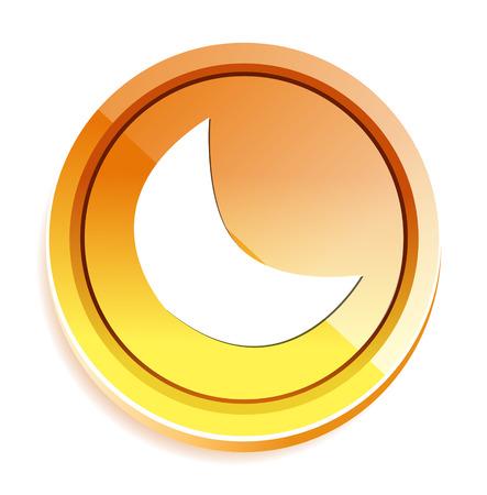 crescent: new moon, crescent button Illustration