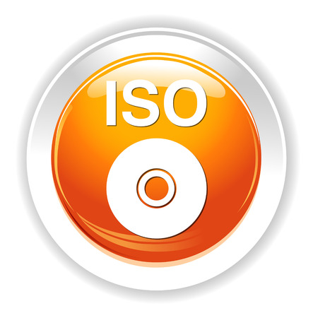 dvd: iso cd dvd button Illustration