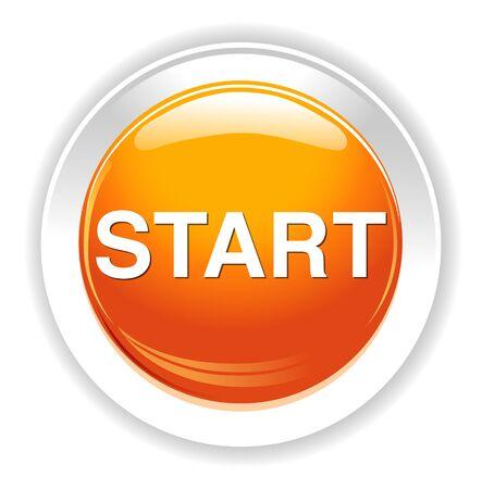 Botón START Foto de archivo - 38810671