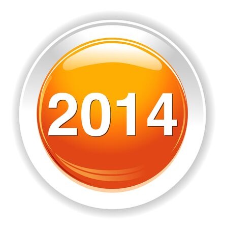 next year: year 2014 button Illustration