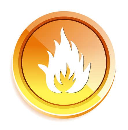 flames of fire: Flames fire button