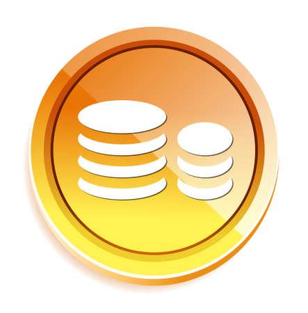 coin: coin icon Illustration