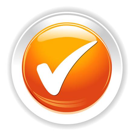 Comprobar botón de signo Foto de archivo - 38809036