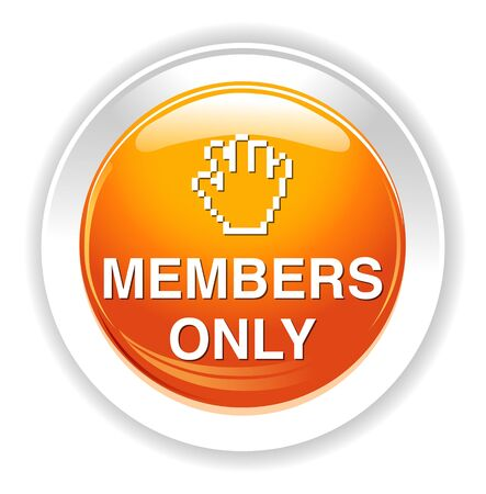 only: Members only button Illustration