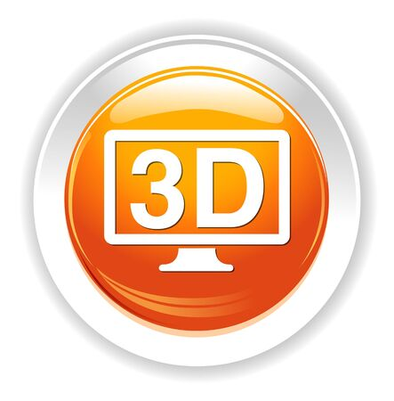 display: 3d display icon Illustration