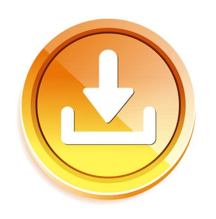download button: Download button Illustration