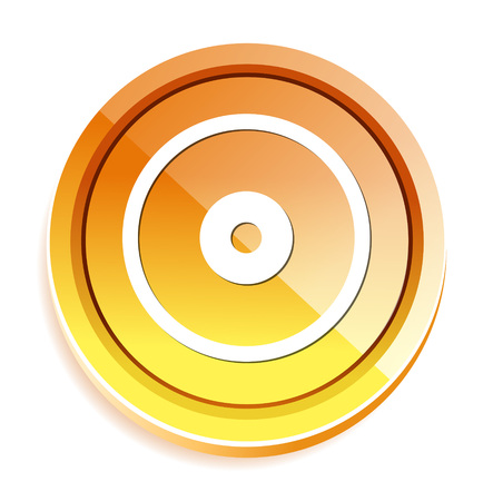 compact disk: Compact disk icon. Cd or DVD symbol