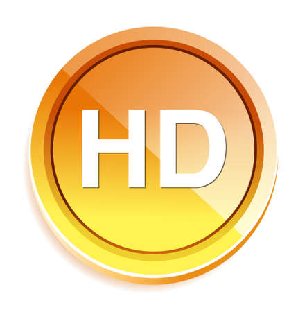 hd: hd icon or button Illustration