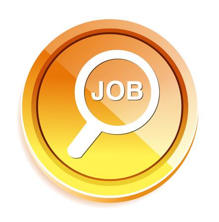 search button: Job search button icon Illustration
