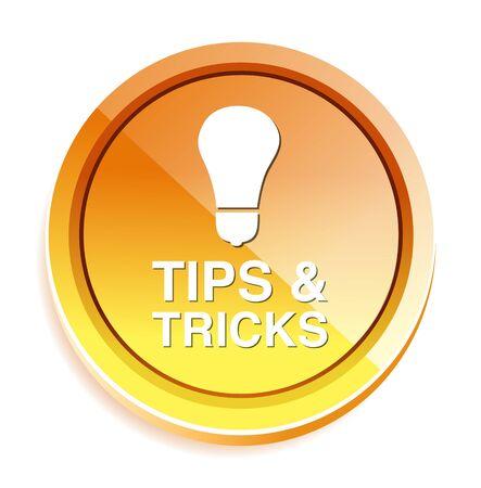 tippek: tippek trükkök icon Illusztráció