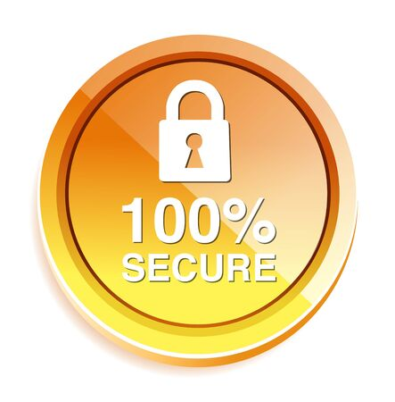secure: Padlock, secure icon, button Illustration