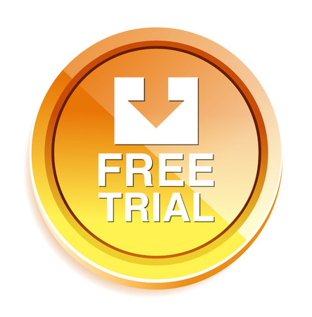 trial: Free trial button Illustration