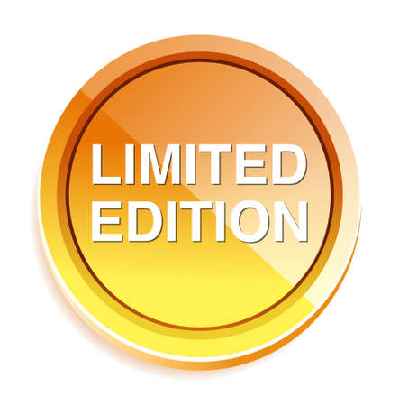 limited edition: limited edition button Illustration