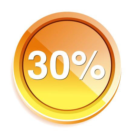 30: 30 percent icon Illustration