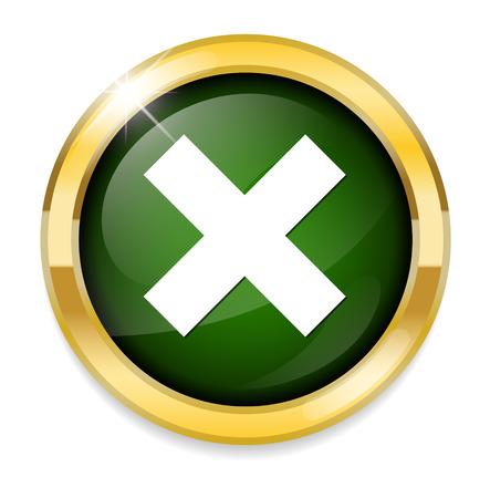 delete button: cancel  icon, delete button Illustration
