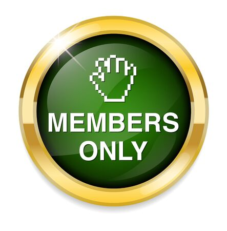 closed community: Members only button Illustration