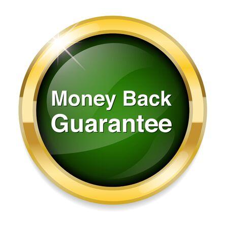 Geld terug garantie knop
