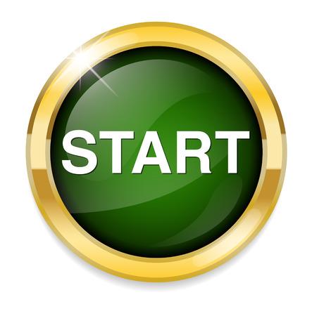 Botón START Foto de archivo - 39832537
