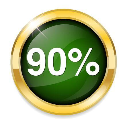 90: 90 percent icon