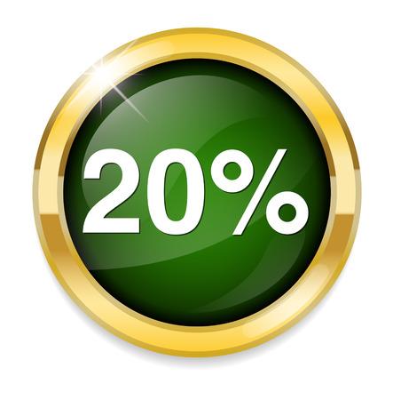20: 20 percent icon