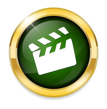 clapper: movie clapper icon