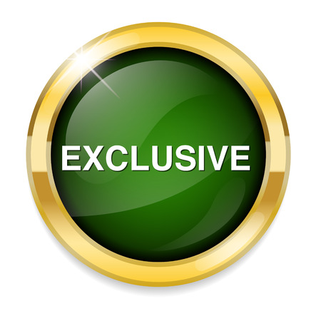 exclusive: exclusive button Illustration