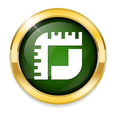 metrics: Measure icon  button