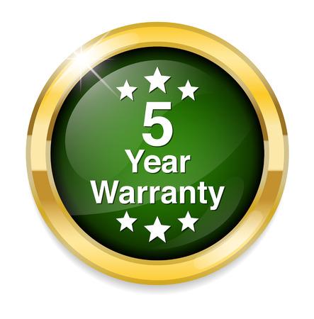 warranty: 5 year warranty button