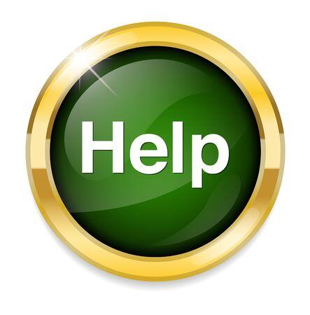 help button: Help button Illustration