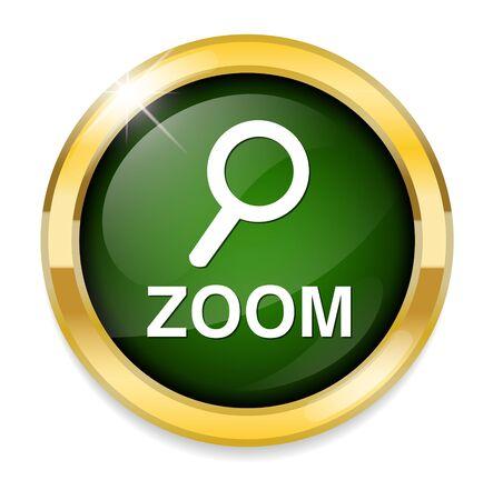 zoom: zoom word icon Illustration