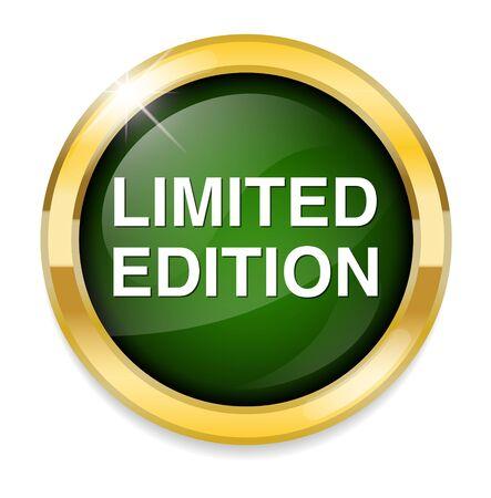 edizione straordinaria: Pulsante edizione limitata Vettoriali
